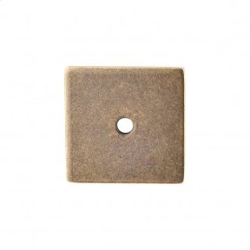 Square Backplate 1 1/4 Inch - German Bronze