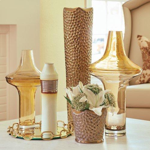 Pentagon Vase-Bronze-Sm