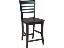 Roma Stool in Coal & Black