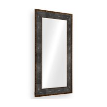 Faux Macassar Ebony & Anthracite Shagreen Floor Mirror
