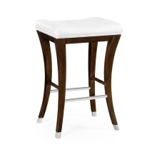American Walnut Counter Stool, Upholstered in COM