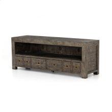 Post & Rail Large TV Cabinet-black Olive