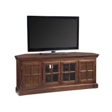 "Bella Maison 60"" Chocolate Cherry Corner TV Console with Lever Handles - 81586"