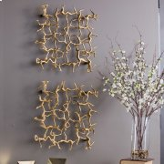 Golden Gymnasts Wall Square Product Image