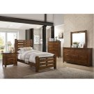 1022 Logan Twin Bed with Dresser & Mirror Product Image