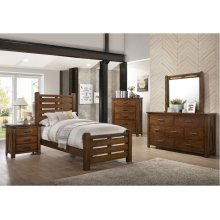 1022 Logan Twin Bed with Dresser & Mirror