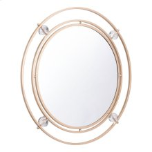 Floating Round Lucite Mirror M & L