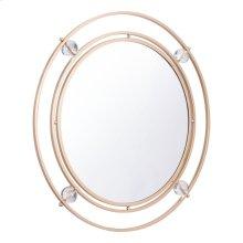 Floating Round Lucite Mirror M & L