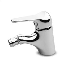 Single lever bidet mixer with aerator without pop-up waste flexible tails.