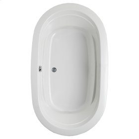 "Easy-Clean High Gloss Acrylic Surface, Oval, MicroSilk® - AirMassuer® Bathtub, Standard Package, 42"" X 72"""