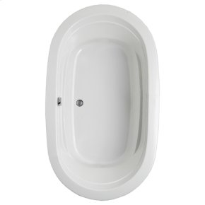 "Easy-Clean High Gloss Acrylic Surface, Oval, Soaking Bathtub, 42"" X 72"""