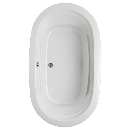 "Easy-Clean High Gloss Acrylic Surface, Oval, MicroSilk® - AirMassuer® Bathtub, Premiere Package, 42"" X 72"""