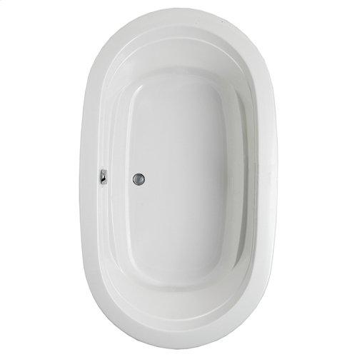 "Easy-Clean High Gloss Acrylic Surface, Oval, Soaking Bathtub, 42"" X 72"""