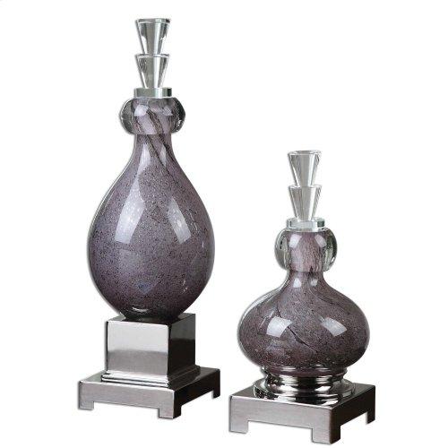 Charoite Bottles, S/2