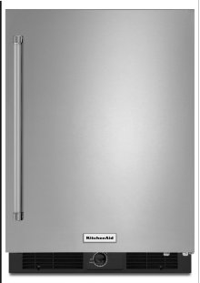 """24"""" Undercounter Refrigerator with Stainless Steel Door"""