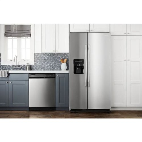 33-inch Side-by-Side Refrigerator with Dual Pad External Ice and Water Dispenser - stainless steel