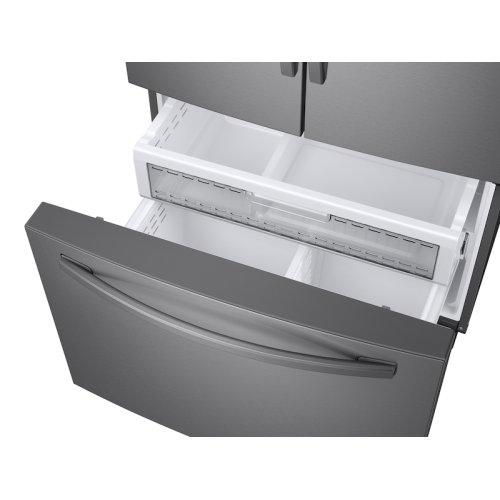 23 cu. ft. 3-Door French Door, Counter Depth Refrigerator with Food Showcase in Stainless Steel