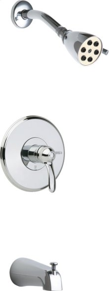 Tub and Shower Trim Kit with Shower Head and Diverter Tub Spout