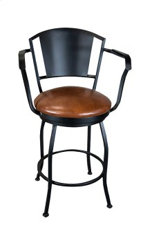 Berkeley B508H26AS Swivel Back and Arms Bar Stool