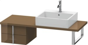 Vero Low Cabinet For Console Compact, Olive Brown High Gloss Lacquer