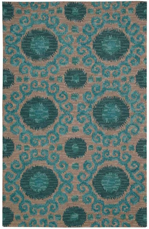 Siam Sia03 Gry Rectangle Rug 5'6'' X 7'5''