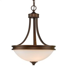 Hidalgo Pendant Bowl in the Sovereign Bronze finish with Opal Glass