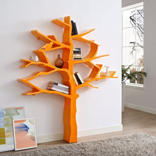 Knowledge Bookcase in Orange