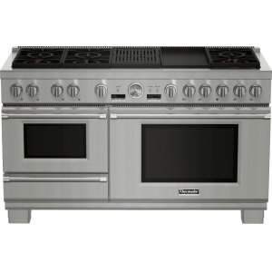 Thermador 60-Inch Pro Grand® Commercial Depth Dual Fuel Steam Range