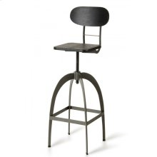 Modrest Elgin Modern Black & Gun Metal Bar Stool