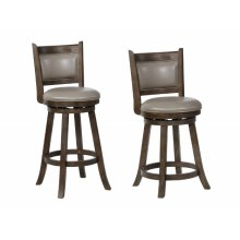 Cecil Swivel Bar Stool Grey