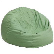 Oversized Solid Green Bean Bag Chair