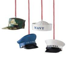 Military Hat Ornament (4 asstd).