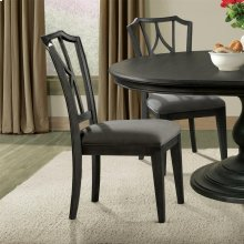 Corinne - Upholstered Diamond Back Side Chair - Ebonized Acacia Finish