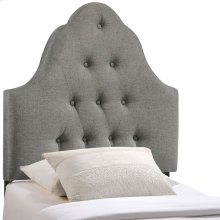 Sovereign Twin Upholstered Fabric Headboard in Gray