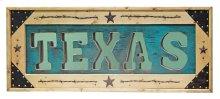 Turquoise Texas Letter Mirror