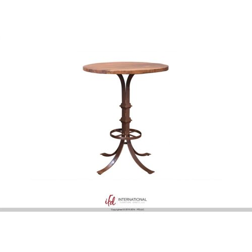 Bistro Table Base Barrel Shaped with Shelves - w/footrest