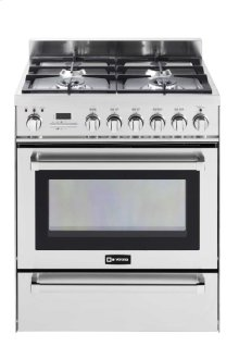 "Stainless Steel 30"" Self Cleaning Dual Fuel Convection Range with Warming Drawer"