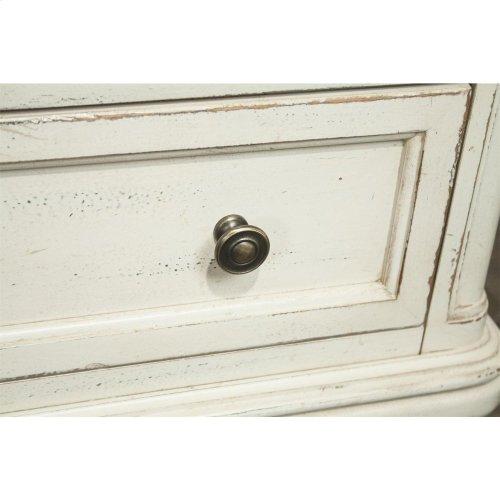 Huntleigh - Three Drawer Nightstand - Vintage White Finish
