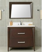 White CANTO 36-in Single-Basin Vanity Cabinet with Crema Marble Stone Top and Karo 20x13 Sink Product Image