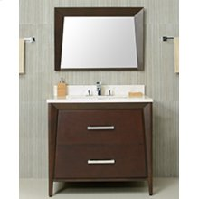 White CANTO 36-in Single-Basin Vanity Cabinet with Carrara Marble Stone Top and Muse 20x13 Sink