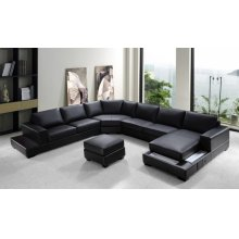Divani Casa Ritz - Modern Bonded Leather Sectional Sofa Set