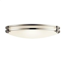 2 Light Flush Mount Fluorescent Ceiling Light - Br