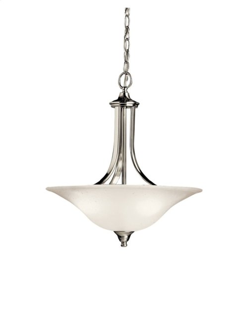 Dover 3 Light Convertible Inverted Pendant Brushed Nickel