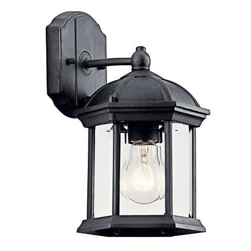 "Barrie 10.25"" 1 Light Wall Light with LED Bulb Black"