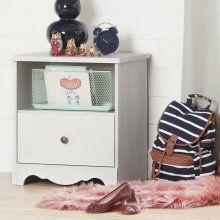 1-Drawer Nightstand - White Wash