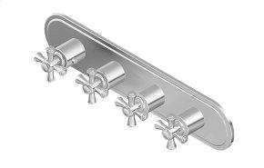 Canterbury M-Series Valve Horizontal Trim with Four Handles