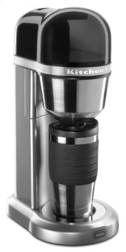 Personal Coffee Maker with 18 oz Thermal Mug - Contour Silver Product Image