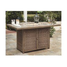 RECT Bar Table w/Fire Pit