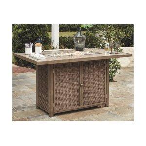 AshleySIGNATURE DESIGN BY ASHLEYRECT Bar Table w/Fire Pit