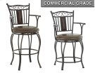 "Barbara Jumbo Swivel Bar Chair with Armrest, 24""x24""x48"" Product Image"